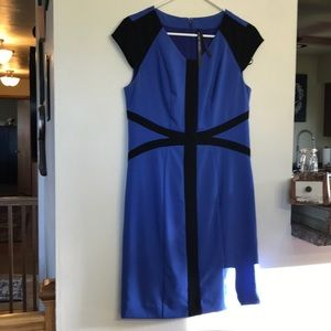 Marc New York Andrew Mac blue & black dress